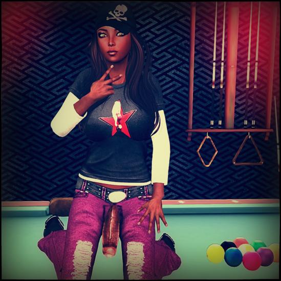 playing pool 2 - Dickgirls, Futa, Blacklist, Second Life
