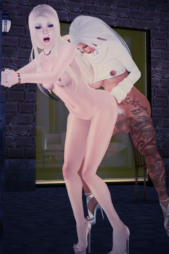 Filling her Cunt - Dickgirls Art, Futanari, Blacklist, Second Life