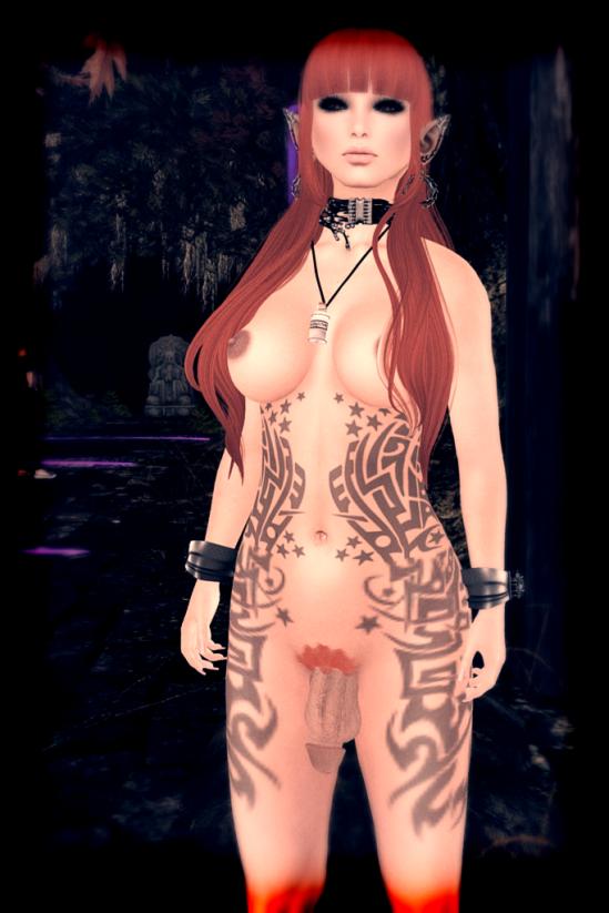 Orange Head - Dickgirls Art, Futanari, Blacklist, Second Life